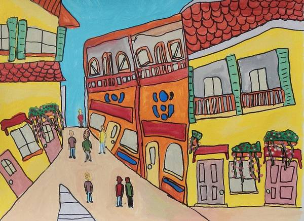 Cartagena Painting - The Walled City by Artists With Autism Inc