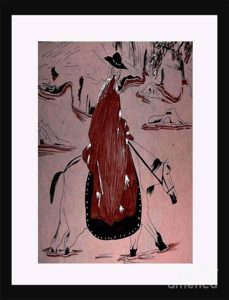 Rust Drawing - The Wanderer by Iris Gelbart