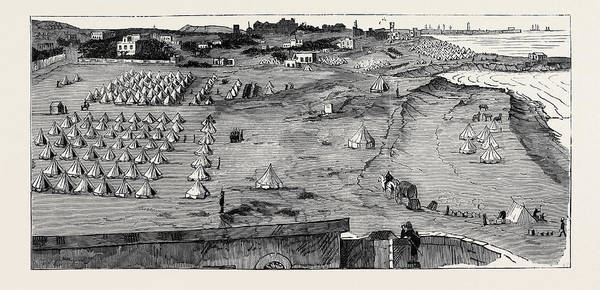 Brigade Drawing - The War In Egypt The Camp Of The Highland Brigade At Ramleh by Egyptian School