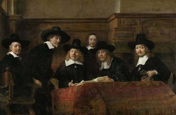 Checking Photograph - The Wardens Of The Amsterdam Drapers' Guild, Known As 'the Syndics', 1662 Oil On Canvas by Rembrandt Harmensz. van Rijn