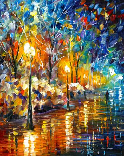 Wall Art - Painting - The Warm Light Of The Winter by Leonid Afremov