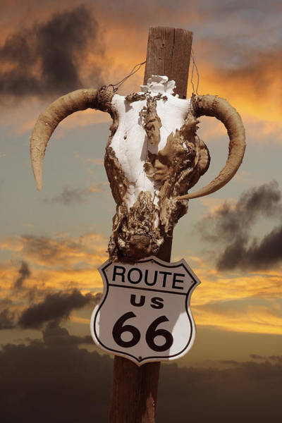 Route 66 Photograph - The Warmth Of Route 66 by Mike McGlothlen