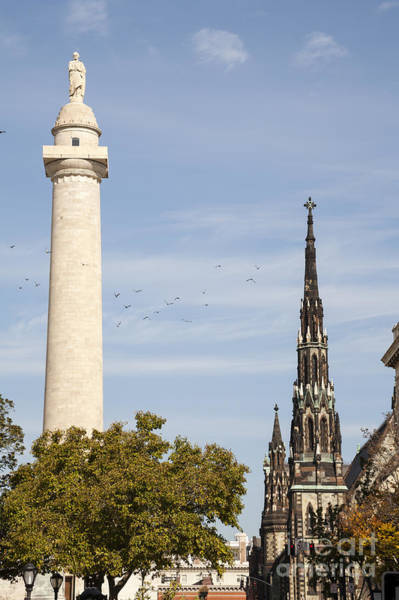 Photograph - The Washington Monument At Mount Vernon Place In Baltimore Maryland by William Kuta