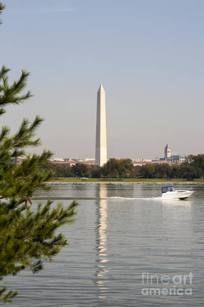 Photograph - The Washington Monument Reflects On The Potomac River As Viewed From The Virginia Side by William Kuta