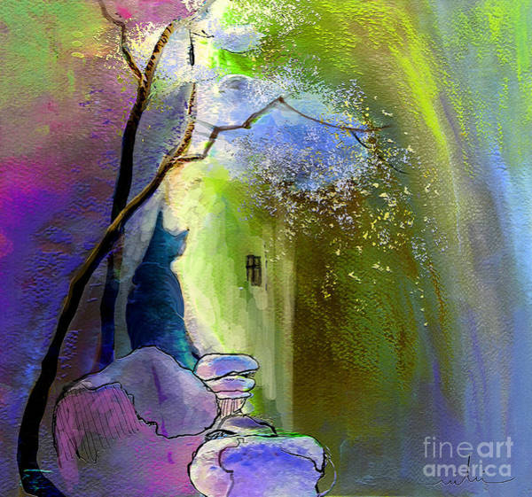 Painting - The Watcher by Miki De Goodaboom