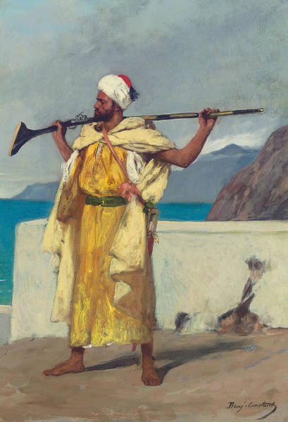 Watch Out Wall Art - Painting - The Watchful Guard by Jean Joseph Benjamin Constant