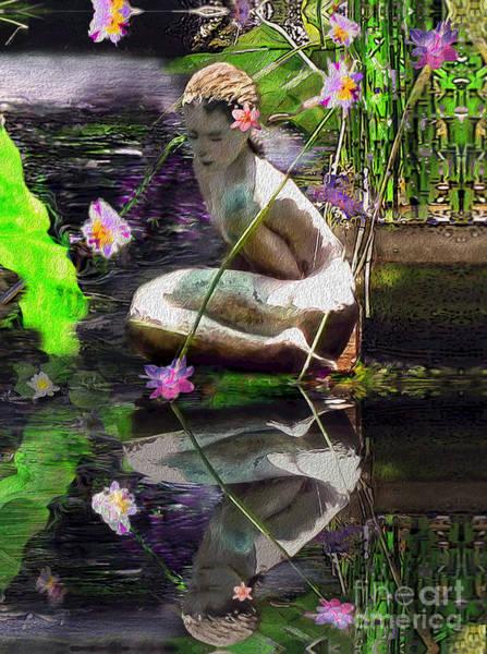 Essence Digital Art - The Water Maiden by Laurel D Rund