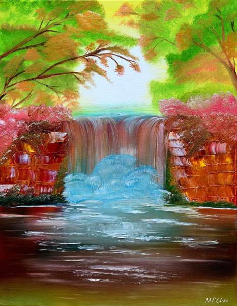 Overflow Painting - The Waterfall by Maria Urso