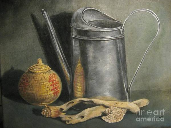 Wall Art - Painting - The Watering Can by Patricia Lang