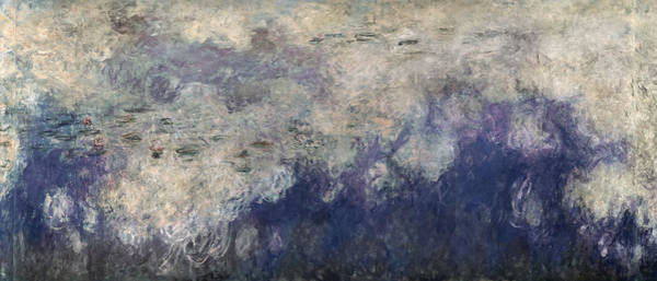 Painter Photograph - The Waterlilies - The Clouds Central Section 1915-26 Oil On Canvas See Also 64184 & 64186 by Claude Monet