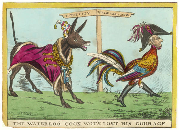 Attitude Drawing - 'the Waterloo Cock Wot's Lost by Mary Evans Picture Library