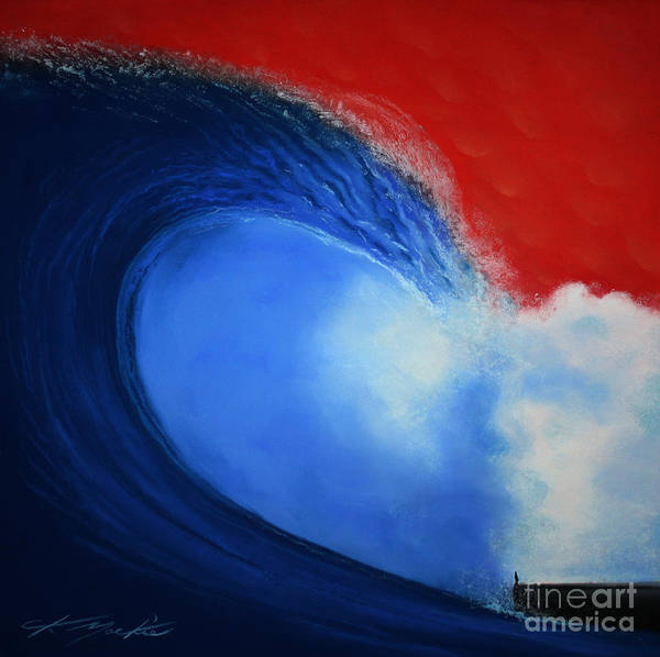 Tsunami Painting - The Wave by CK Mackie
