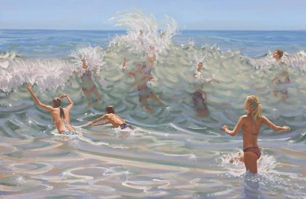 Painting - The Wave by Gary M Long