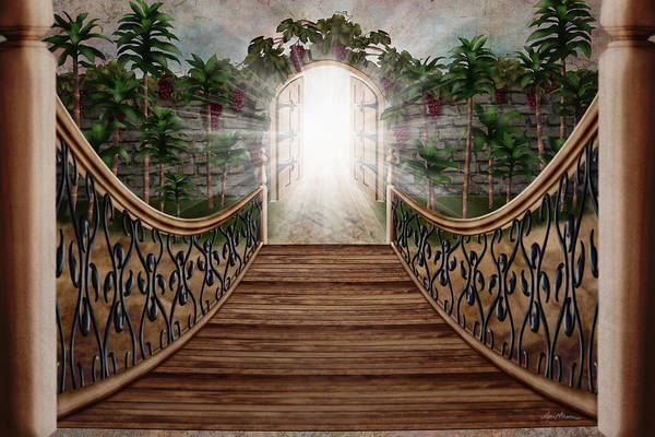 Digital Art - The Way And The Gate by April Moen