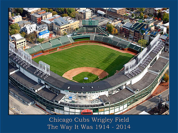 Scoreboard Digital Art - The Way It Was Chicago Cubs Wrigley Field 02 by Thomas Woolworth