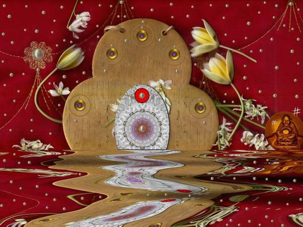 Temple Mixed Media - The Way To Heavens Gate by Pepita Selles
