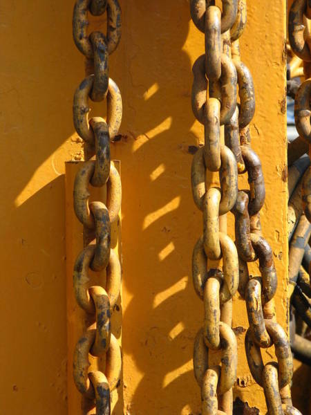Chain Link Photograph - The Weakest Link by Bill Tomsa