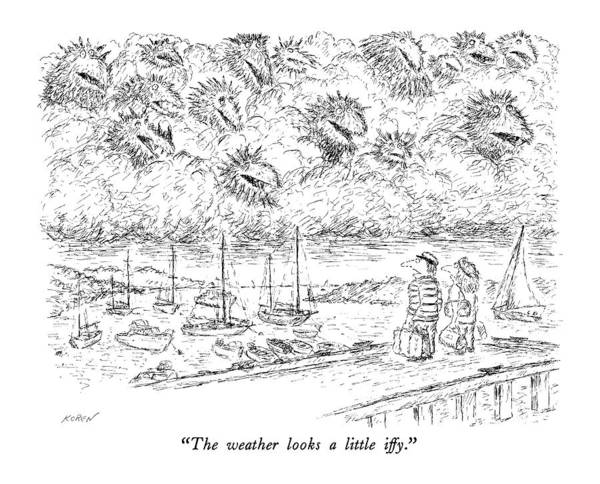 She Wall Art - Drawing - The Weather Looks A Little Iffy by Edward Koren
