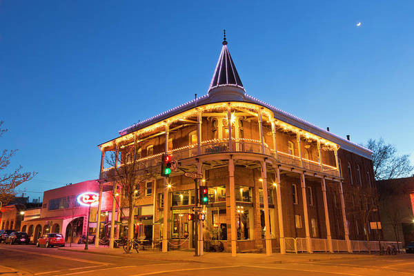 Flagstaff Photograph - The Weatherford Hotel At Dusk by Chuck Haney