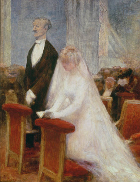 Kneeling Painting - The Wedding by Albert Guillaume