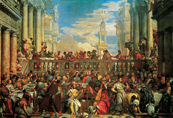 Feast Painting - The Wedding Feast At Cana by Veronese
