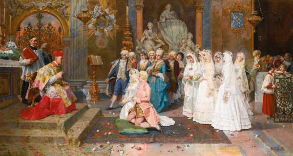 Giulio Painting - The Wedding by Giulio Rosati