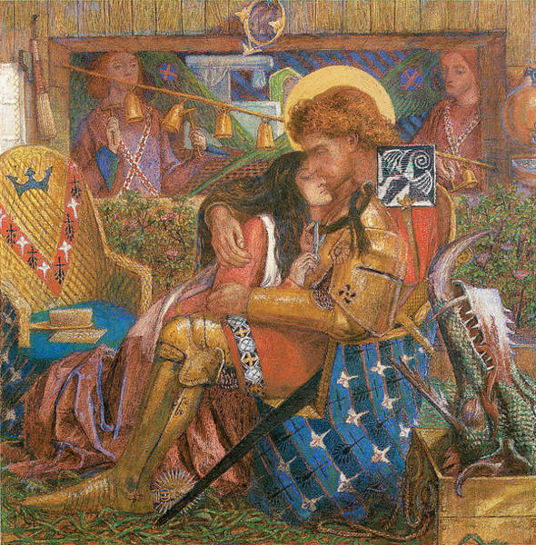 Gabriel Painting - The Wedding Of St George And The Princess Sabra by Dante Gabriel Rossetti