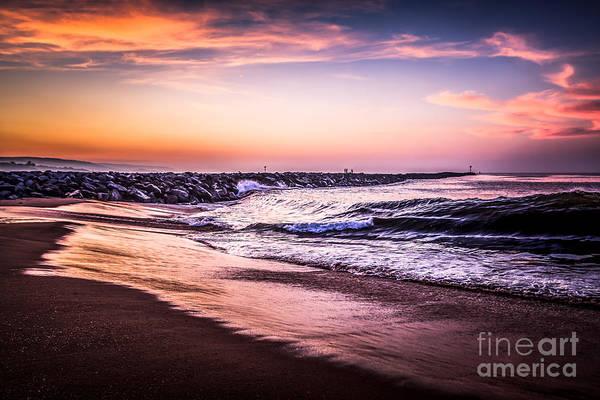 Balboa Photograph - The Wedge Newport Beach California Picture by Paul Velgos