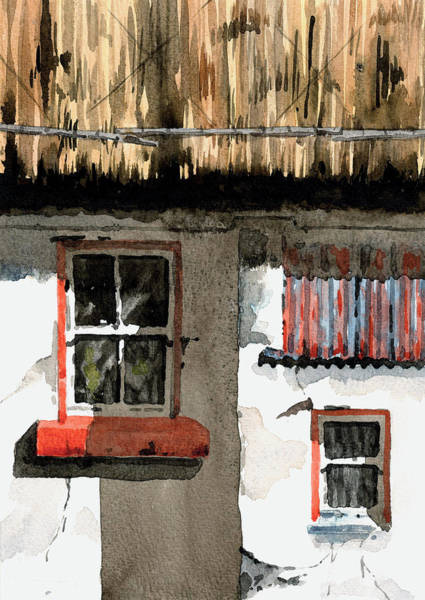 Painting - The Wee Room by Val Byrne
