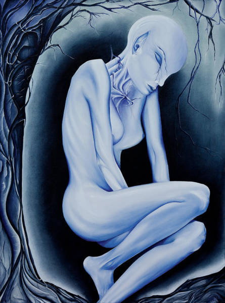 Ambiguous Painting - The Weeping Of A Thousand Years by Amy Elizabeth Quirk