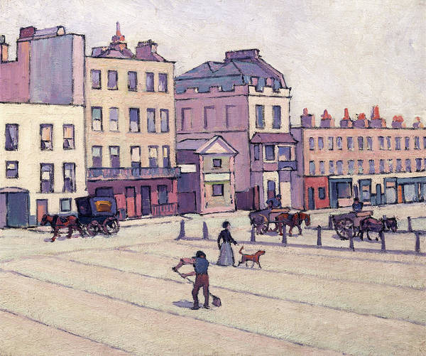 Oil Industry Painting - The Weigh House, Cumberland Market, Robert Polhill Bevan by Litz Collection