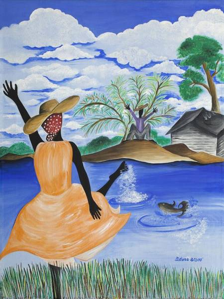 Gullah People Wall Art - Painting - The Welcome River by Patricia Sabree