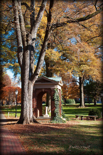 Photograph - The Well - Davidson College by Paulette B Wright