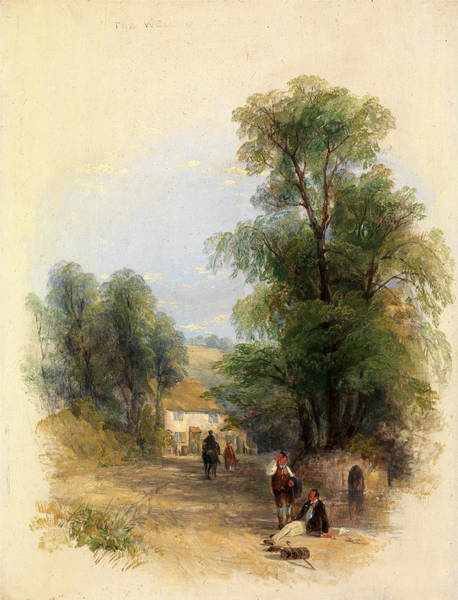 Oil Well Painting - The Well Of St. Keyne, Thomas Creswick, 1811-1869 by Litz Collection
