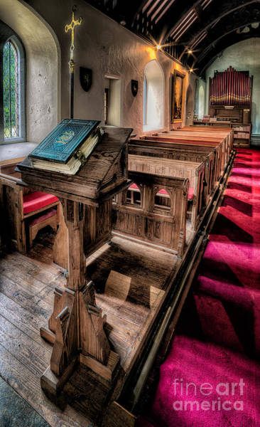 Pipe Organ Wall Art - Photograph - The Welsh Bible by Adrian Evans