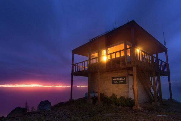 Stillwater Photograph - The Werner Peak Fire Lookout Tower by Chuck Haney
