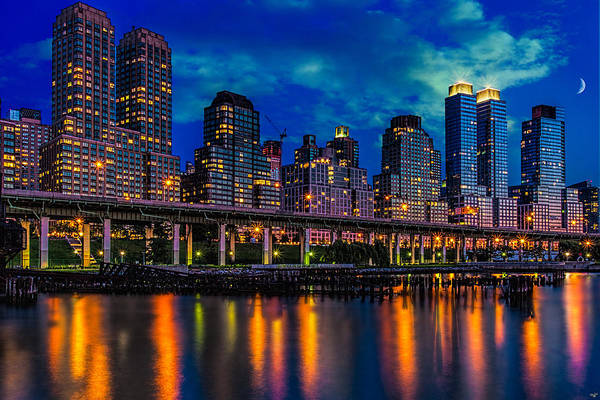 Photograph - The West Side Highway At Dusk by Chris Lord