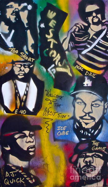 The Mac Wall Art - Painting - The West Side  by Tony B Conscious