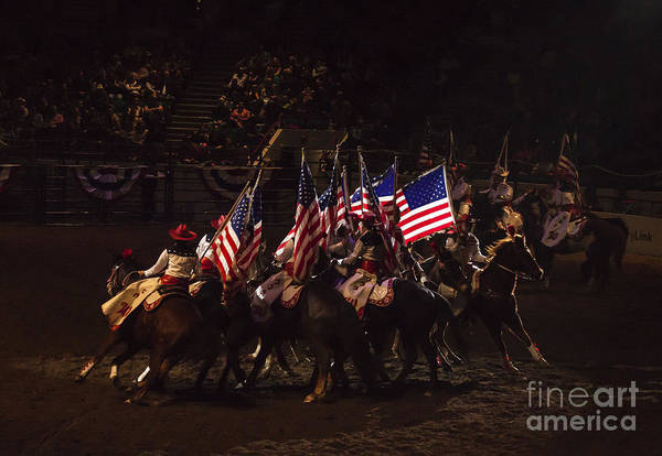 Crazy Horse Photograph - The Westernaires Rodeo Performance by Janice Pariza