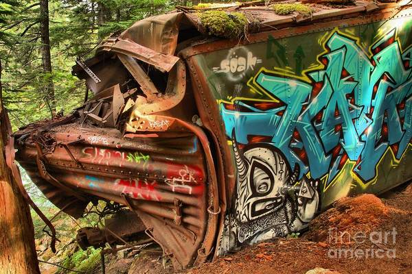 Train Derailment Photograph - The Whistler Train Wreck Alien by Adam Jewell