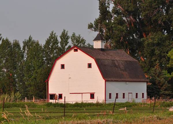 Bonneville County Photograph - The White Barn by Image Takers Photography LLC - Laura Morgan