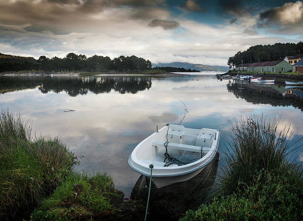 Galicia Photograph - The White Boat by Juan R. Fabeiro