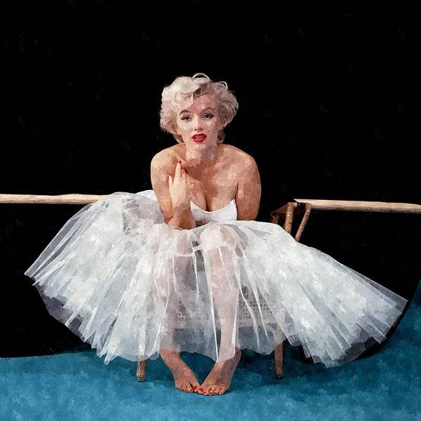 Marilyn Painting - The White Dress Of Marilyn by Florian Rodarte