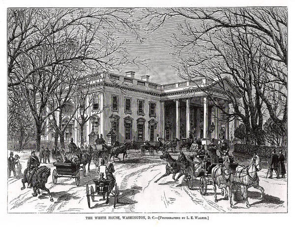 The White House 1877 Art Print by Charles Somerville