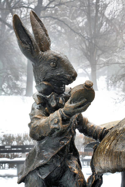 Alice In Wonderland Photograph - The White Rabbit  by JC Findley