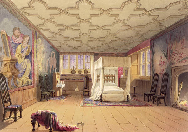 Interior Drawing - The White Room, Cotehele House by English School