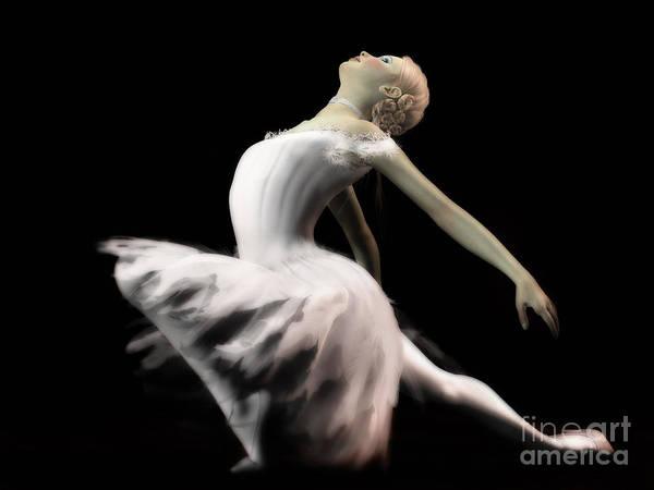 The White Swan - Ballerina Art Print