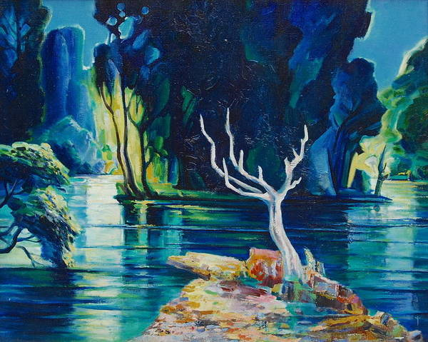 Wall Art - Painting - The White Tree by Ivan Tanev