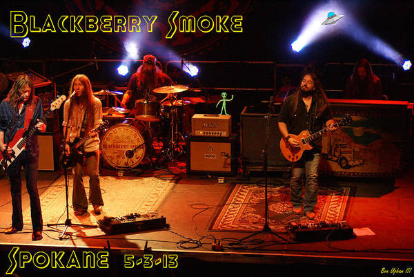 Photograph - The Whole Band Blackberry Smoke by Ben Upham