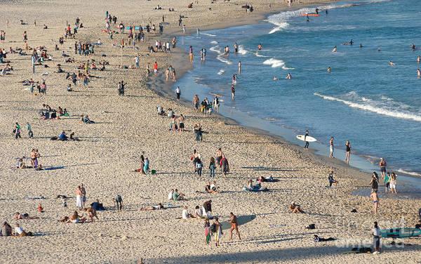 The Wide Sweep Of Bondi Beach - Sydney - Australia Art Print